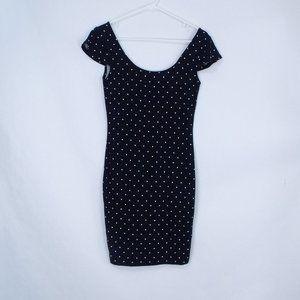 Forever 21 Black Polka Dot Dress M